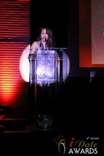 Carmelia Ray announcing Best Up and Coming Dating Site at the 2013 Internet Dating Industry Awards Ceremony in Las Vegas