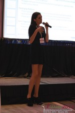 Rosalie Sutherland Of AnastasiaDate Speaking On Mobile Dating Conversions  at iDate2014 Beverly Hills