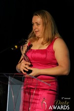 Anna Foster of eRomance (Winner of Best Up and Coming Dating Site) at the 2014 Internet Dating Industry Awards Ceremony in Las Vegas