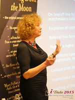 Mary Balfour CEO And Managing Director Of Drawing Down The Moon  at the 42nd international iDate conference for global dating professionals in London